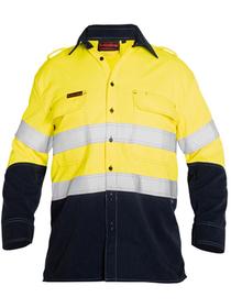 'Bisley Workwear' TenCate Tecasafe® Plus Taped 2 Tone HiVis FR Vented Long Sleeve Shirt