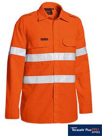 'Bisley Workwear' TenCate Tecasafe® Plus Taped FR HiVis Light Weight Vented Long Sleeve Shirt