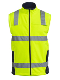'Bisley Workwear' Taped HiVis Soft Shell Vest