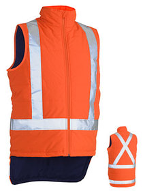 'Bisley Workwear'  TTMC-W X Taped Hi Vis Puffer Vest (Shower Proof)