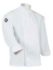 'Aussie Chef' Classic Long Sleeve White Jacket