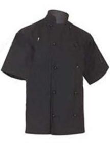 'Aussie Chef' Classic Short Sleeve Black Jacket