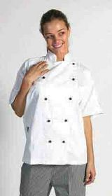 'DNC' Cool Breeze Cotton Short Sleeve Chef Jacket