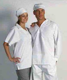 'DNC' V-Neck Short Sleeve Food Industry Jerkin