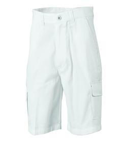 'DNC' Cotton Drill Cargo Shorts - White