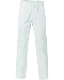 'DNC' Cotton Drill Work Trousers - White