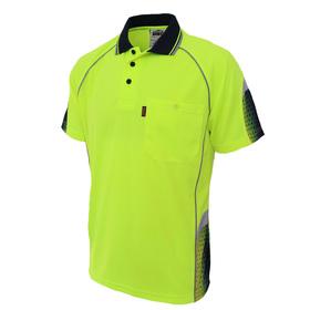 'DNC' HiVis GALAXY Sublimated Short Sleeve Polo
