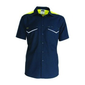 'DNC' RipStop Short Sleeve Cool Cotton Tradies Shirt