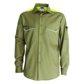 'DNC' RipStop Long Sleeve Cool Cotton Tradies Shirt
