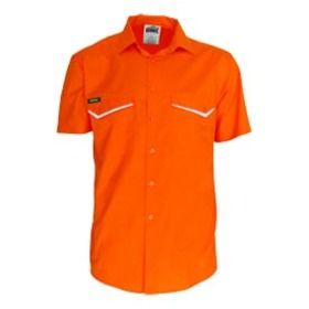 'DNC' HiVis RipStop Short Sleeve Cool Cotton Shirt