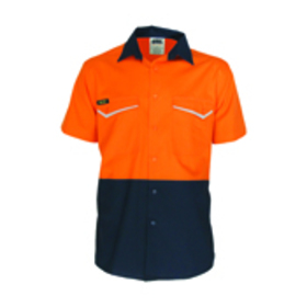 'DNC' HiVis RipStop Two Tone Short Sleeve Cool Cotton Shirt