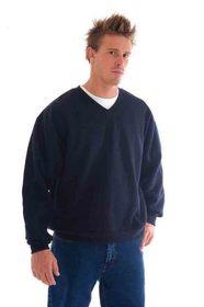 'DNC' V-Neck Fleecy Sweatshirt (Sloppy Joe)