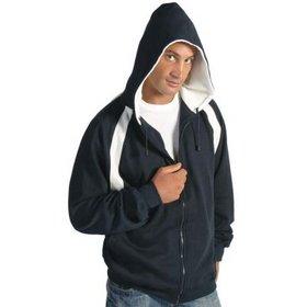'DNC' Mens Contrast Panel Fleecy Top with Hood