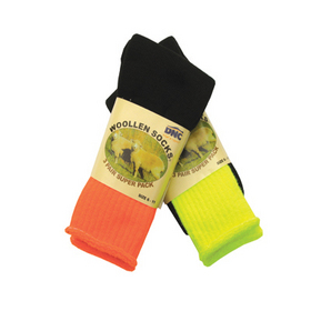 'DNC' 2 Tone Safety Woollen Socks - 3 Pair Pack