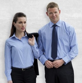 'Gear For Life' Ladies The Corporate Stripe Long Sleeve Shirt