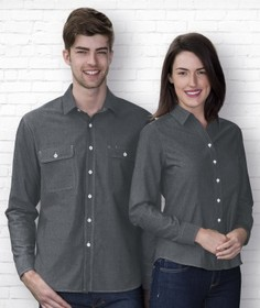 'Gear For Life' Ladies The Montreal Chambray Long Sleeve Shirt