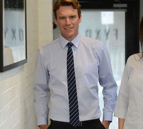 'Gloweave' Mens Square Dobby Weave Long Sleeve Shirt