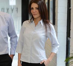'Gloweave' Ladies Square Dobby Weave Wrinkle Free ¾ Sleeve Shirt