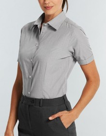 'Gloweave' Ladies Puppy Tooth Short Sleeve Shirt