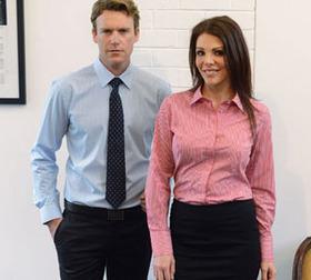 'Gloweave' Mens Nano Yarn Dyed Bold Stripe Long Sleeve Shirt