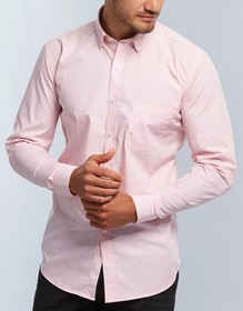 'Gloweave' Mens Gingham Check Long Sleeve Hospitality Shirt