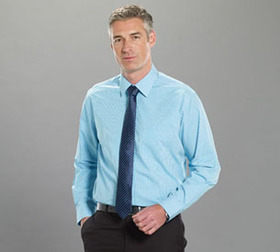 'Gloweave' Mens Gingham Check Long Sleeve Shirt