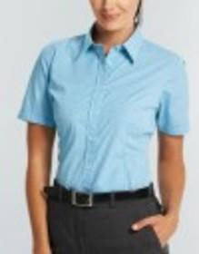 'Gloweave' Ladies Gingham Check Short Sleeve Shirt