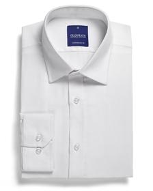 'Gloweave' Mens Micro Brick Textured Plain Long Sleeve Shirt