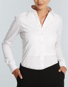 'Gloweave' Ladies Textured Plain Long Sleeve Shirt