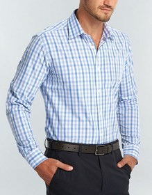 'Gloweave' Mens Soft Tonal Check Long Sleeve Shirt
