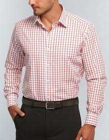 'Gloweave' Mens Window Pane Check Long Sleeve Shirt
