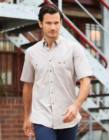 'Gloweave' Mens 5045 Chambray Short Sleeve Shirt