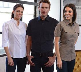 'Gloweave' Mens Casual Rib Short Sleeve Shirt
