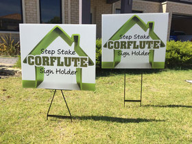 'Coreflute Sign Holders'