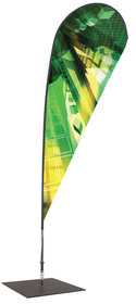 'Teardrop' Flag Banner