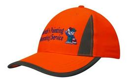 'Headwear Professionals' Luminescent Safety Cap with Reflective Inserts and Trim