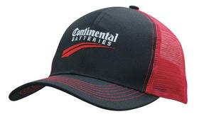 'Headwear Professionals' Breathable Poly Twill Cap with Mesh Back