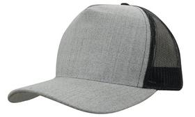 'Headwear Professionals' Grey Marle American Twill With Mesh Back