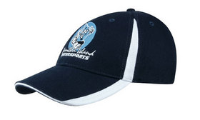 'Headwear Professionals' Brushed Heavy Cotton with Inserts On The Peak and Crown