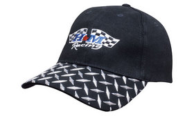 'Headwear Professionals' Brushed Heavy Cotton with Checker Plate on Peak