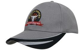 'Headwear Professionals' Brushed Heavy Cotton with Peak Trim Embroidered