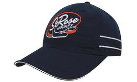 'Headwear Professionals' Microfibre Sports Cap with Piping and Sandwich