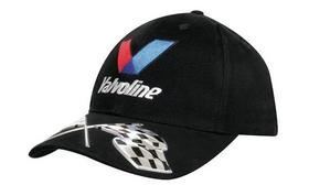 'Headwear Professionals' Brushed Heavy Cotton Cap with Liquid Metal Flags