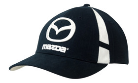 'Headwear Professionals' Brushed Heavy Cotton with Crown Inserts and Contrasting Peak Under and Strap