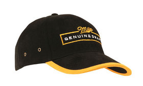 'Headwear Professionals' Brushed Heavy Cotton with Peak and Arch Trim