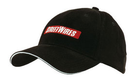 'Headwear Professionals' Brushed Heavy Cotton with Reflective Sandwich and Strap