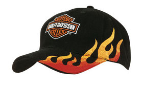 'Headwear Professionals' Brushed Heavy Cotton with Flame Embroidery