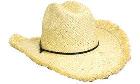 'Headwear Professionals' Frayed Edge Cowboy Straw