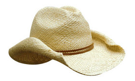 'Headwear Professionals' Ladies Cowboy Straw