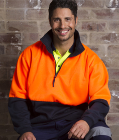'Aussie Kings' Hi-Vis Optimus Half Zip Fleecy Top